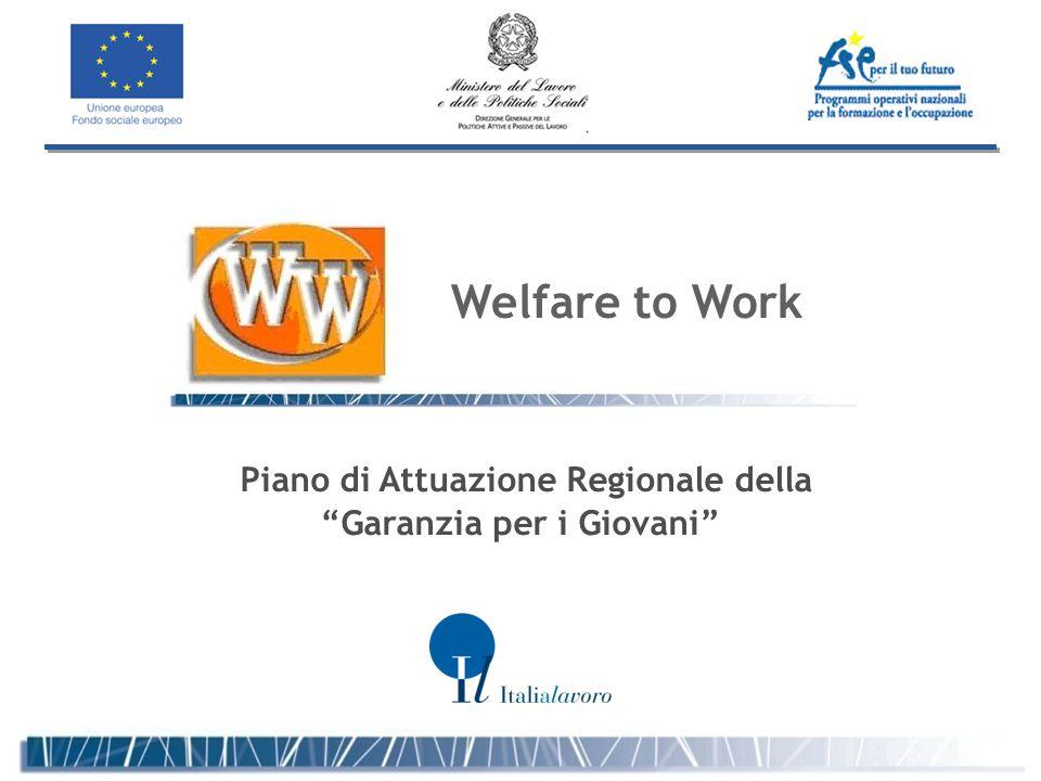 Piano di Attuazione Regionale della Garanzia per i Giovani Welfare to Work