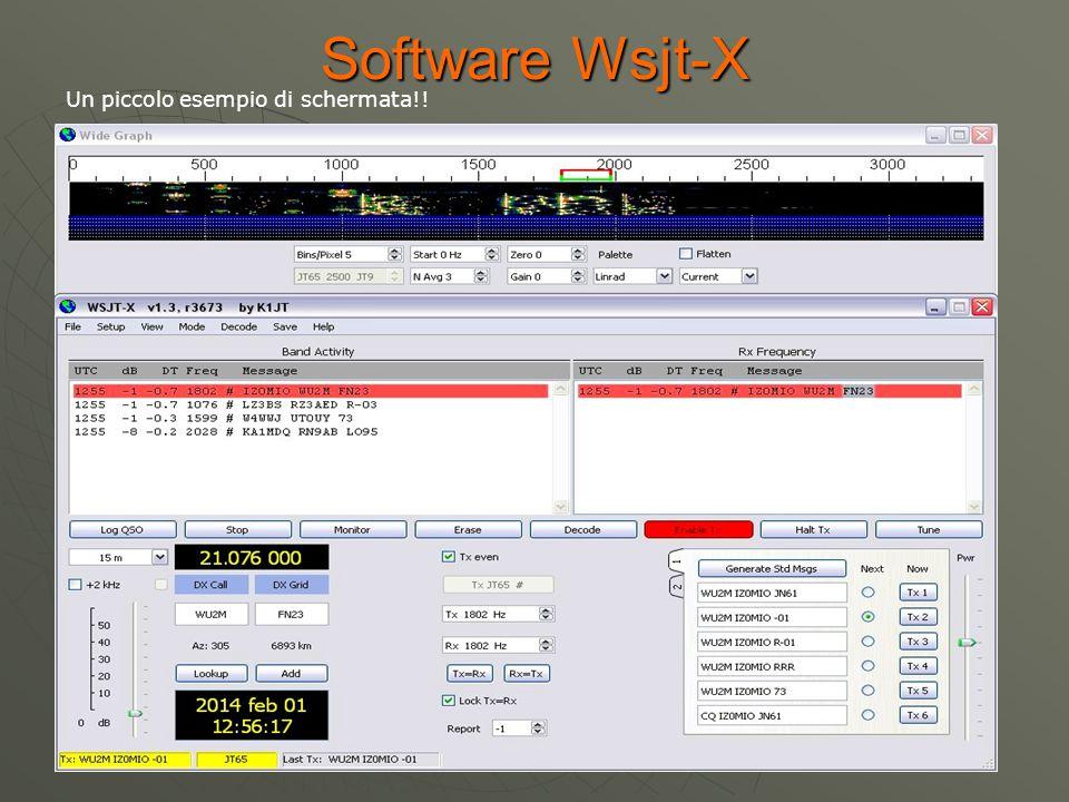 Software Wsjt-X Un piccolo esempio di schermata!!