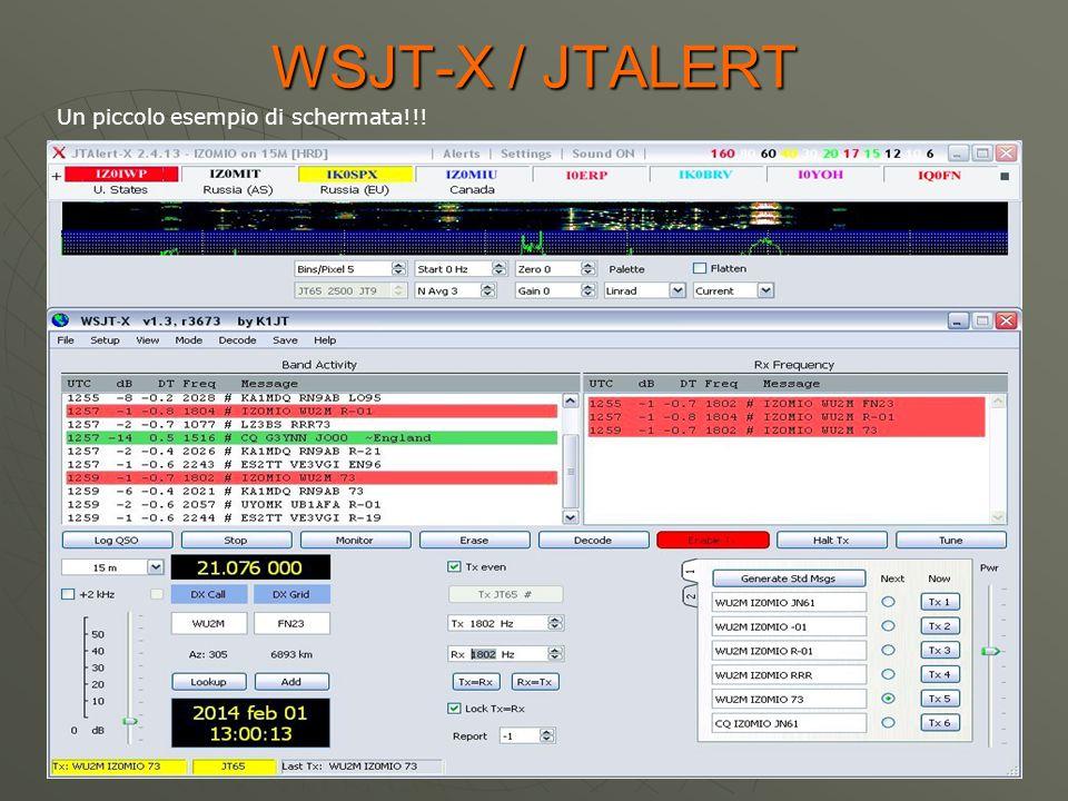 WSJT-X / JTALERT Un piccolo esempio di schermata!!!