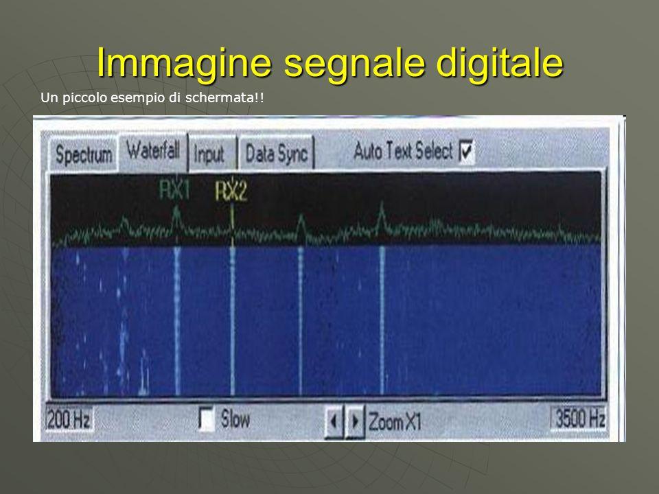 Immagine segnale digitale Un piccolo esempio di schermata!!