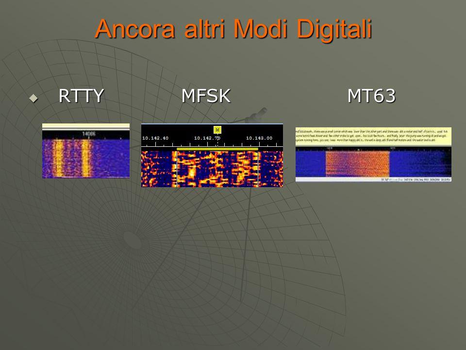 Ancora altri Modi Digitali  RTTY MFSK MT63