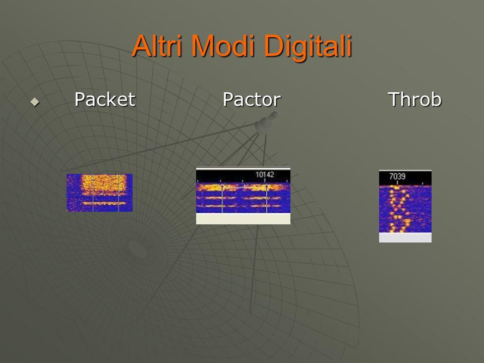 Altri Modi Digitali  Packet Pactor Throb