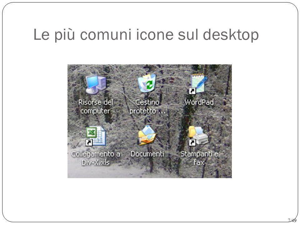 Creare sul desktop un'icona di collegamento Destro sul desktop → Nuovo → Collegamento Windows offre la possibilità di creare una scorciatoia per i programmi più usati andando a porre un'icona di collegamento sul dektop 8/49