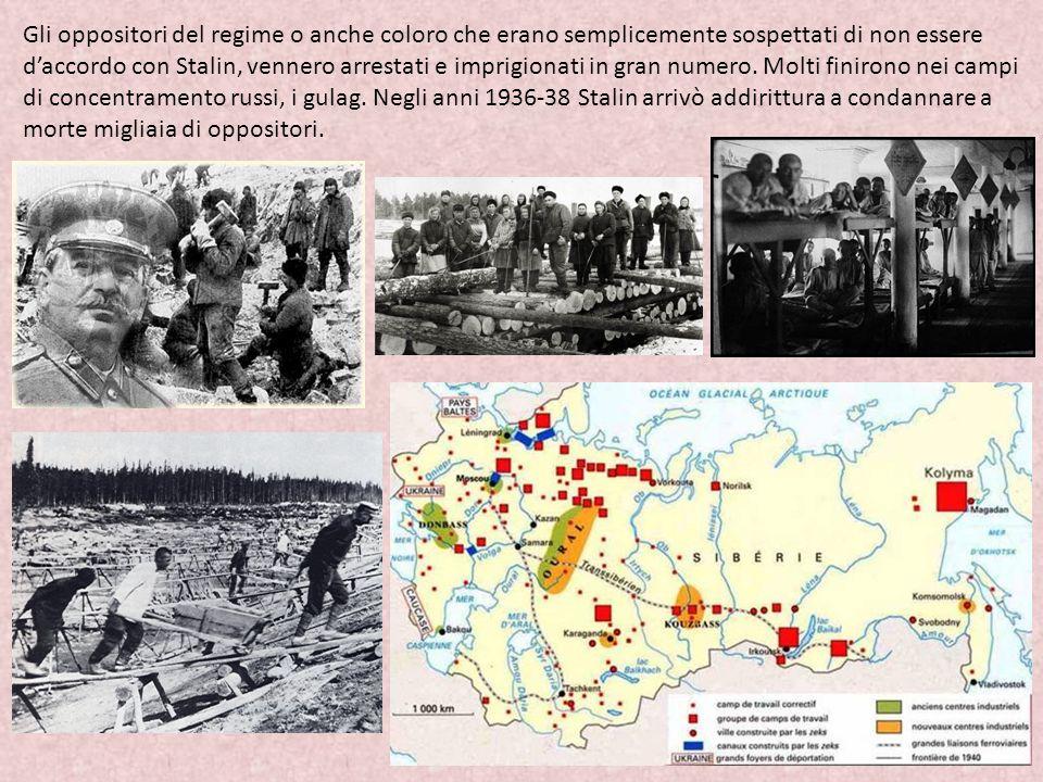 Gli oppositori del regime o anche coloro che erano semplicemente sospettati di non essere d'accordo con Stalin, vennero arrestati e imprigionati in gr