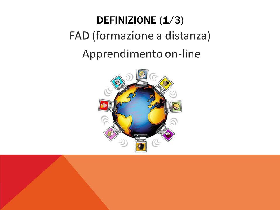 DEFINIZIONE (2/3) Uso delle tecnologie multimediali e di Internet per migliorare la qualità dell'apprendimento, facilitando l'accesso alle risorse e ai servizi, agli scambi in remoto e alla collaborazione con la creazione di comunità virtuali di apprendimento