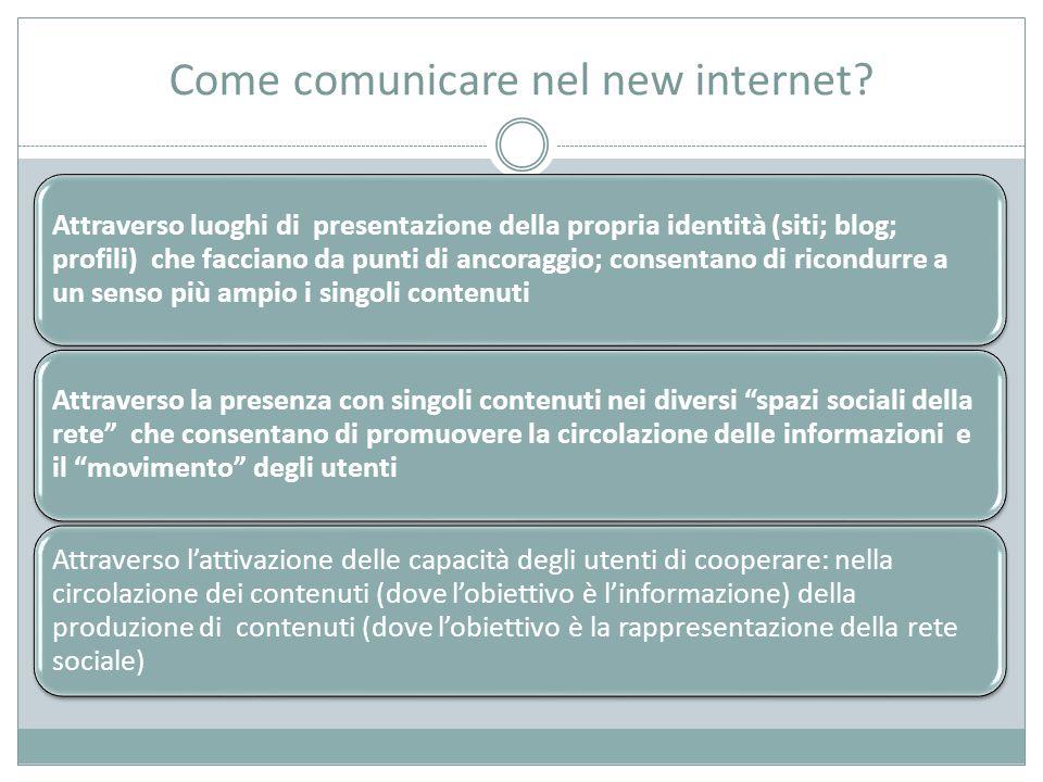 Come comunicare nel new internet.