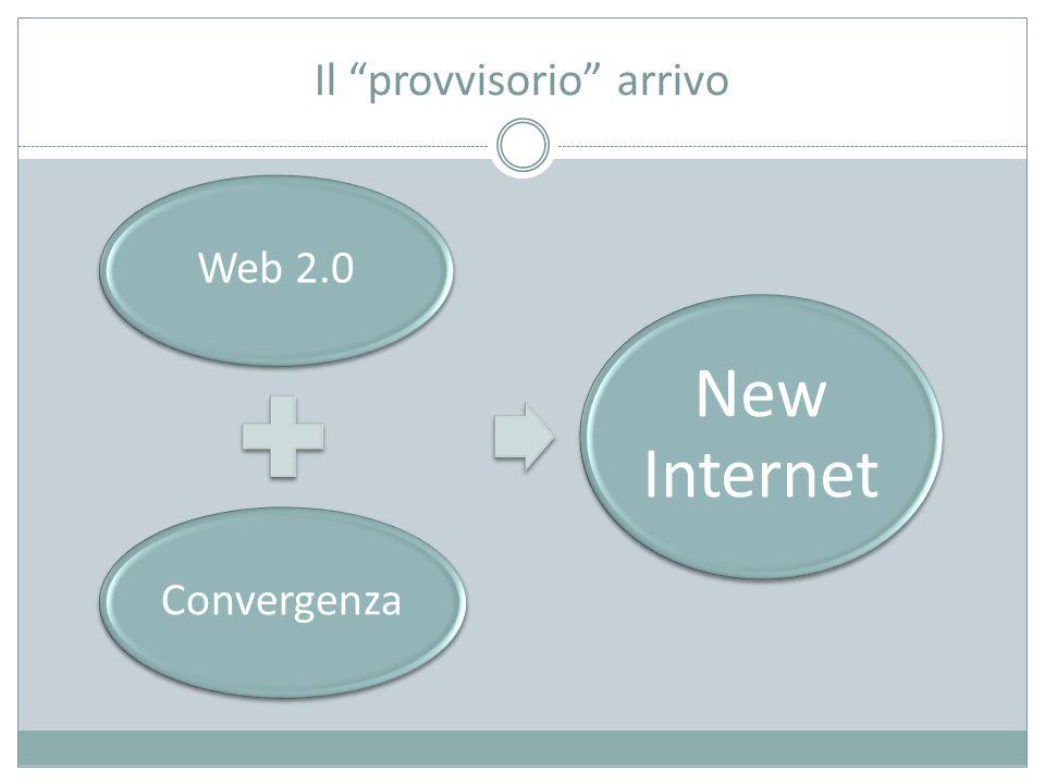 Il provvisorio arrivo Web 2.0Convergenza New Internet