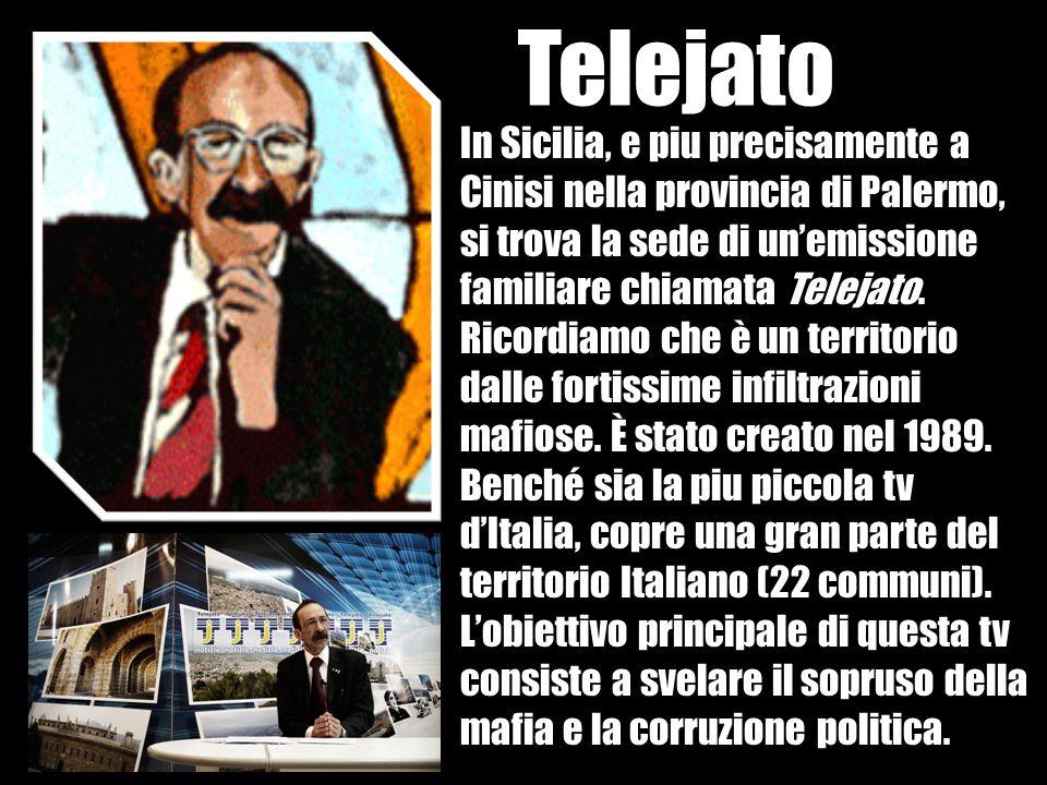 Siamo una redazione a conduzione familiare Grazie Telejato, i mezzi italiani sono costretti a parlare della mafia.