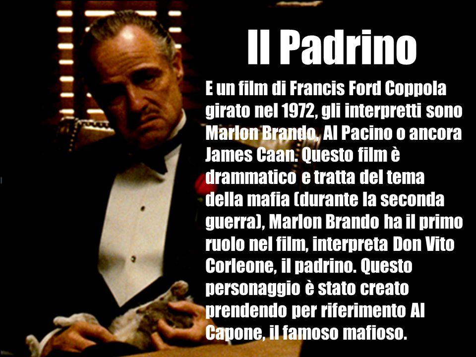 E un film di Francis Ford Coppola girato nel 1972, gli interpretti sono Marlon Brando, Al Pacino o ancora James Caan. Questo film è drammatico e tratt