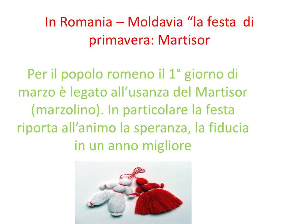 """In Romania – Moldavia """"la festa di primavera: Martisor Per il popolo romeno il 1° giorno di marzo è legato all'usanza del Martisor (marzolino). In par"""