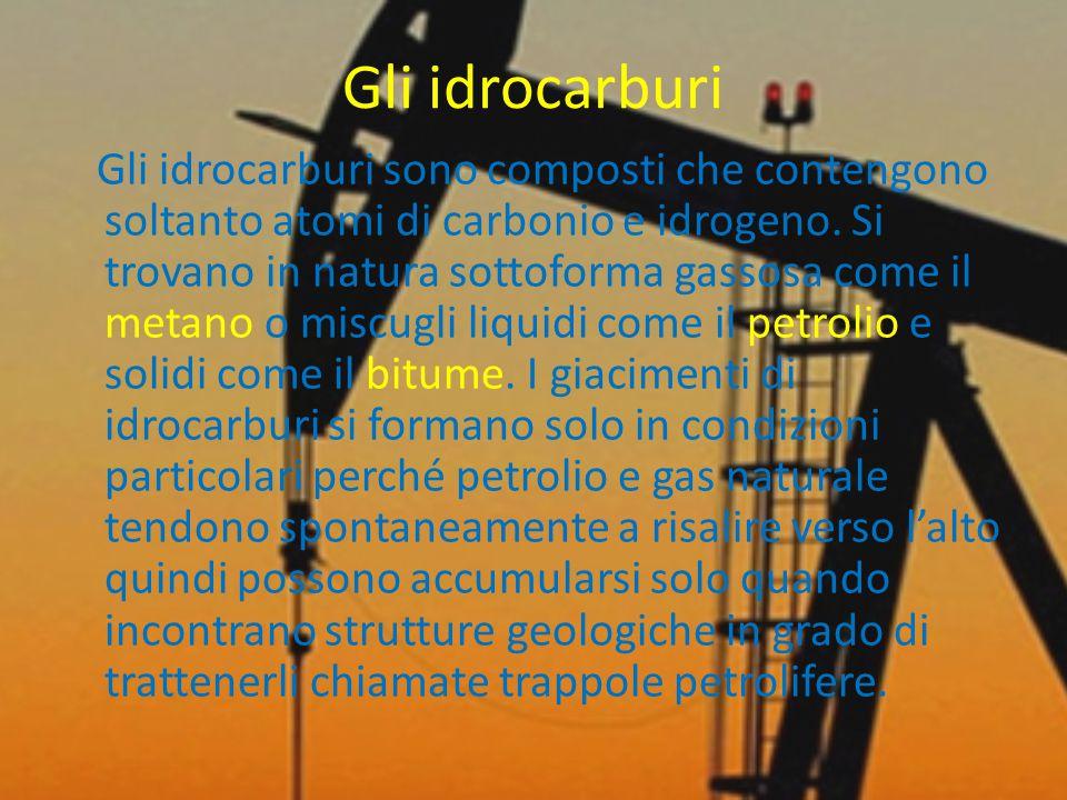 Gli idrocarburi Gli idrocarburi sono composti che contengono soltanto atomi di carbonio e idrogeno.
