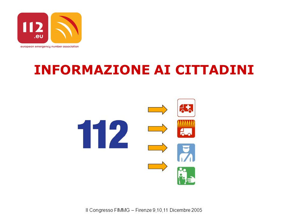 II Congresso FIMMG – Firenze 9,10,11 Dicembre 2005 INFORMAZIONE AI CITTADINI