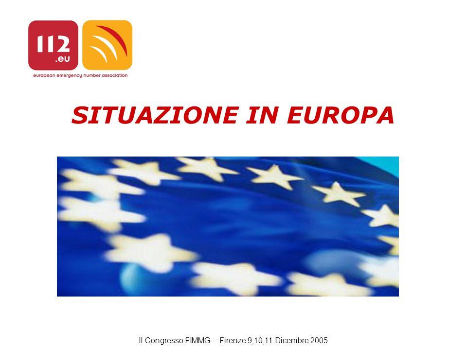 II Congresso FIMMG – Firenze 9,10,11 Dicembre 2005 SITUAZIONE IN EUROPA