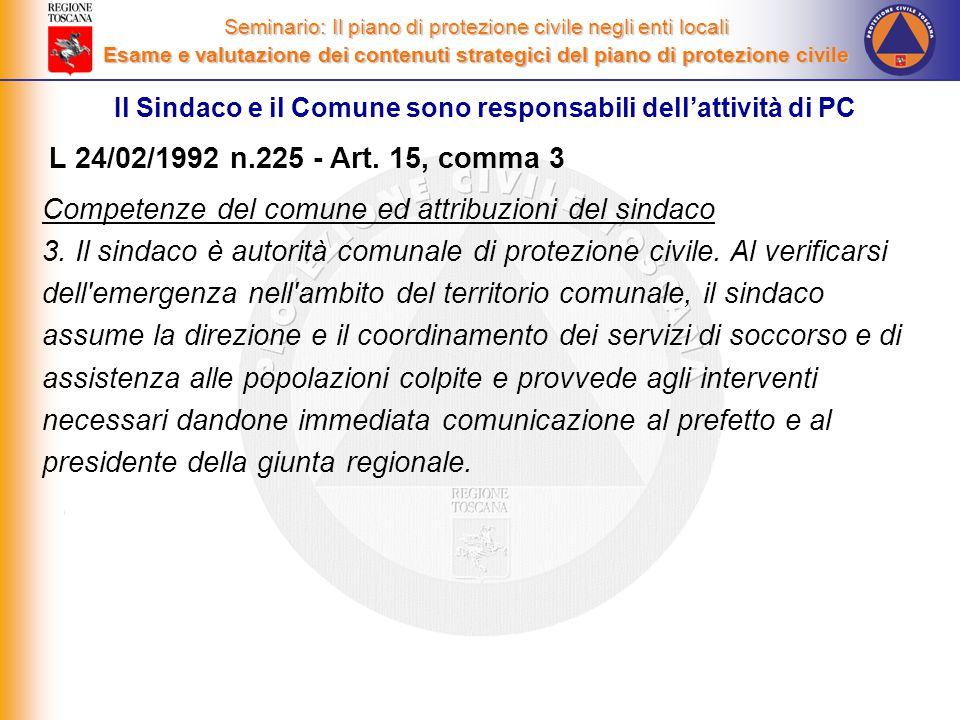 Competenze del comune ed attribuzioni del sindaco 3.