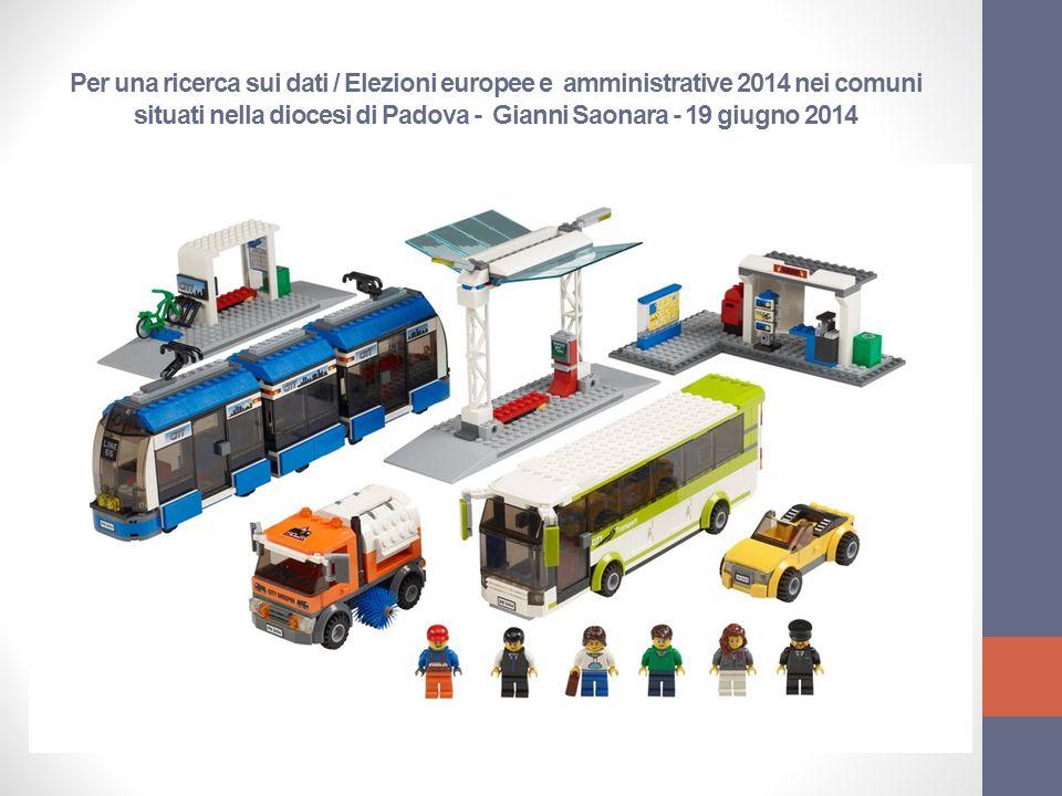 Per una ricerca sui dati / Elezioni europee e amministrative 2014 nei comuni situati nella diocesi di Padova - Gianni Saonara - 19 giugno 2014
