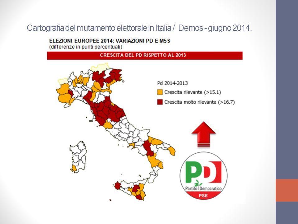 Comparazione dati elezioni amministrative 2009 - 2014 / 89 comuni situati nella diocesi di Padova.