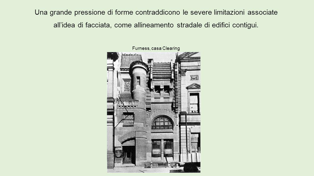 Una grande pressione di forme contraddicono le severe limitazioni associate all'idea di facciata, come allineamento stradale di edifici contigui. Furn