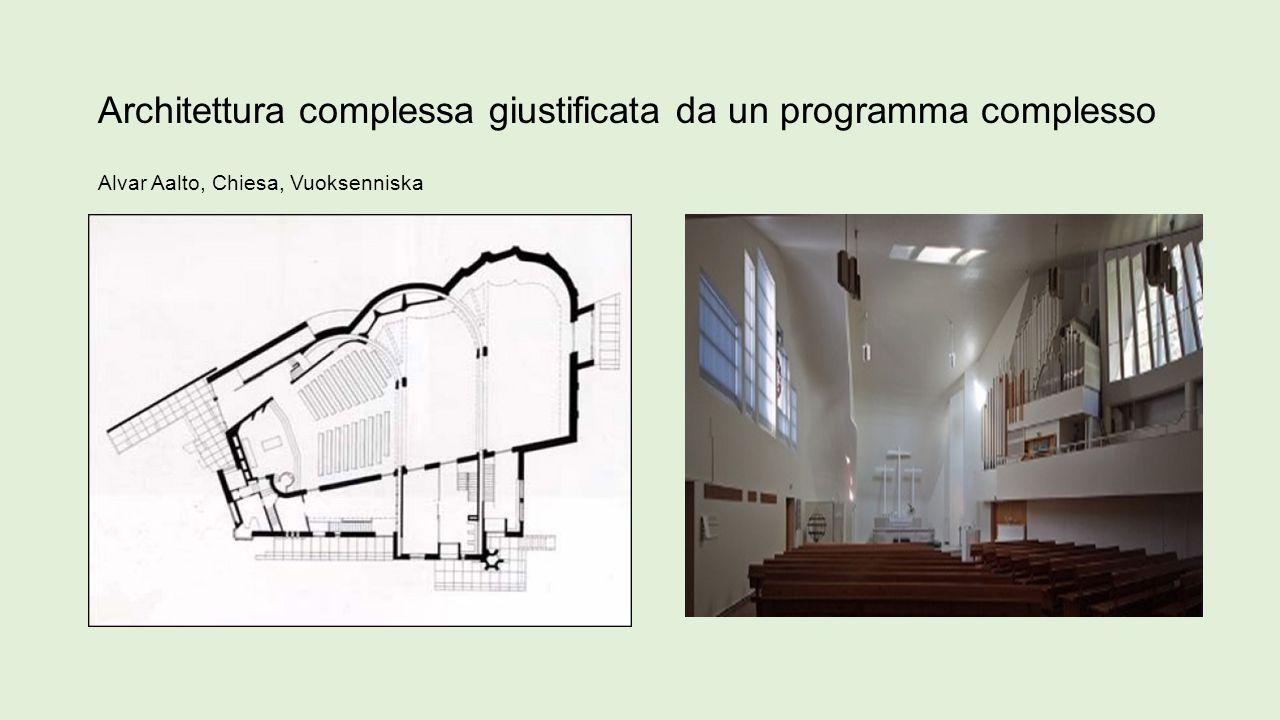Architettura complessa giustificata da un programma complesso Alvar Aalto, Chiesa, Vuoksenniska
