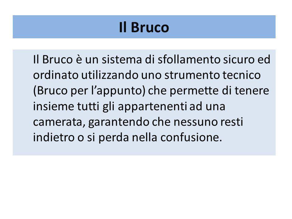 Il Bruco Il Bruco è un sistema di sfollamento sicuro ed ordinato utilizzando uno strumento tecnico (Bruco per l'appunto) che permette di tenere insiem