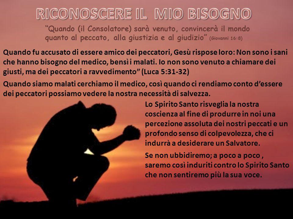 """""""Quando (il Consolatore) sarà venuto, convincerà il mondo quanto al peccato, alla giustizia e al giudizio"""" (Giovanni 16:8) Quando fu accusato di esser"""