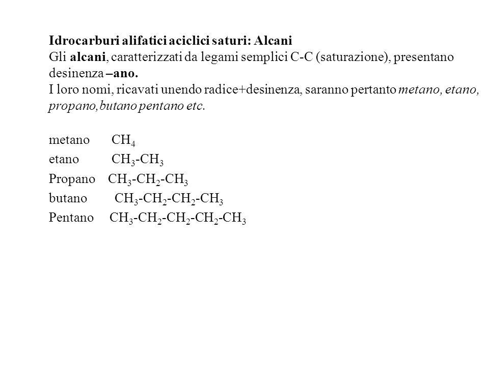 I NOMI IUPAC DEGLI ISOMERI DELL ESANO B 2-metilpentano C 3-metilpentano D 2,2-dimetilbutano E 2,3-dimetilbutano