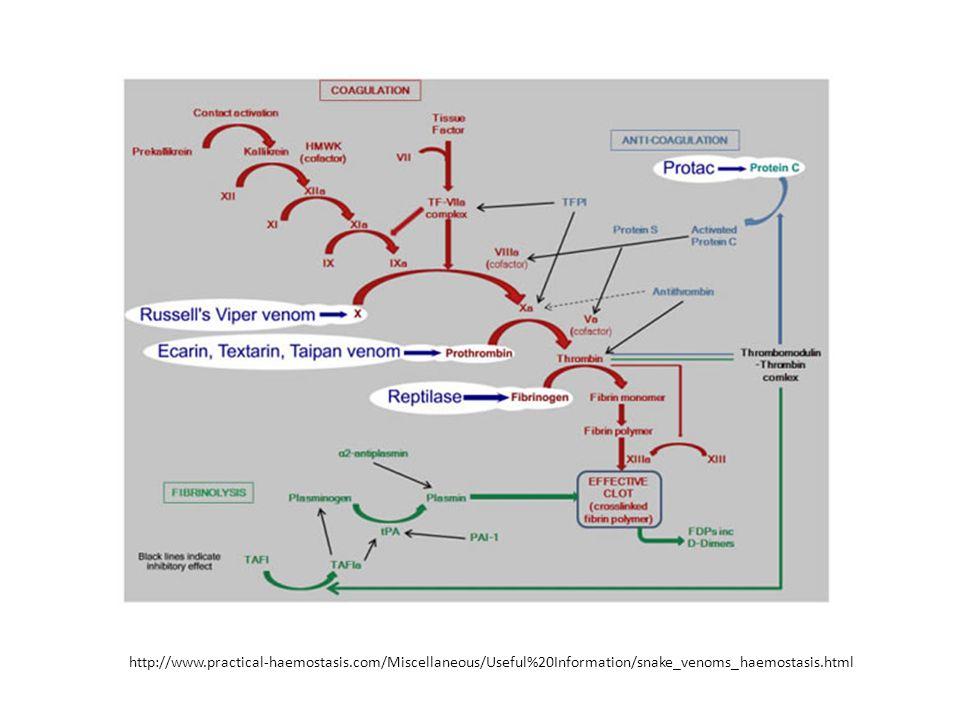 http://www.practical-haemostasis.com/Miscellaneous/Useful%20Information/snake_venoms_haemostasis.html