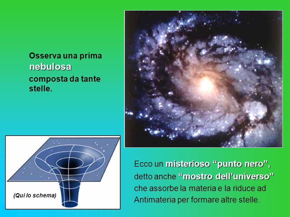 nebulosa Osserva una prima nebulosa composta da tante stelle.