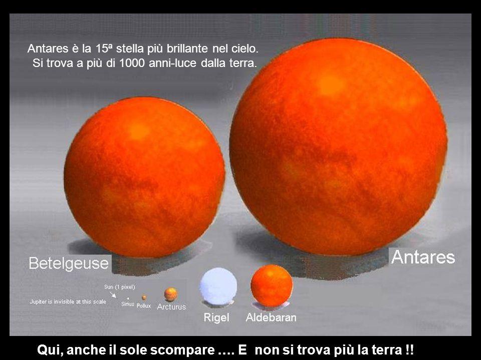Antares è la 15ª stella più brillante nel cielo.Si trova a più di 1000 anni-luce dalla terra.