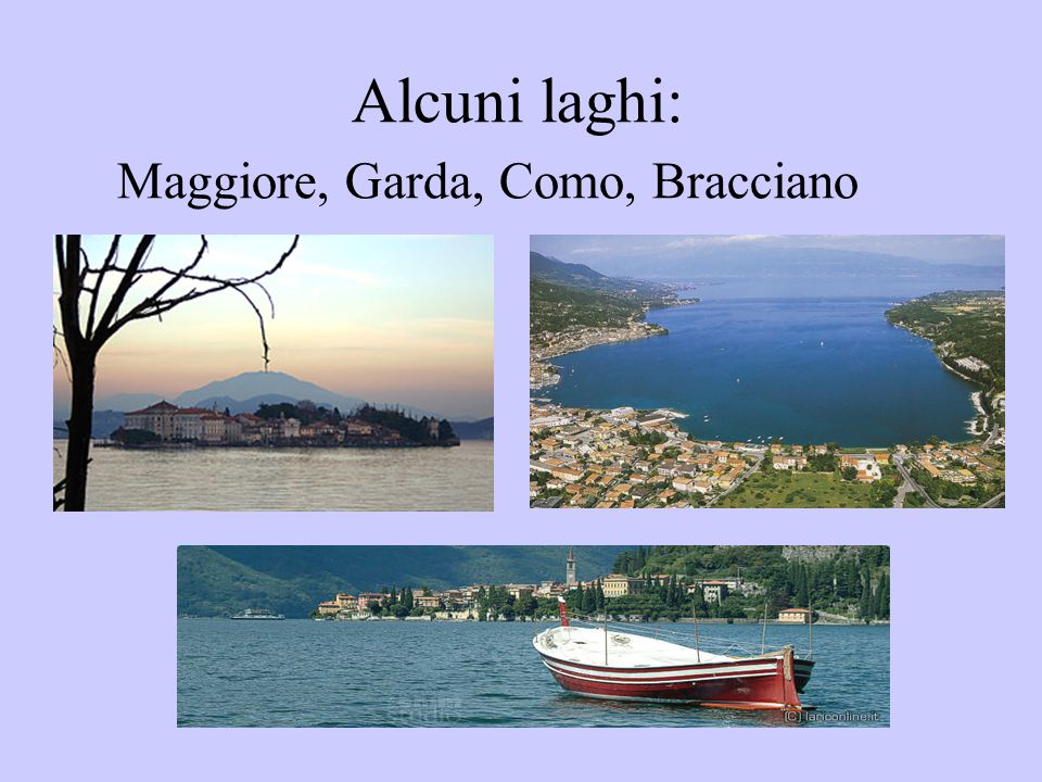 Il mare, tra cui: l'Adriatico, il mare Tirreno, il mare Ligure