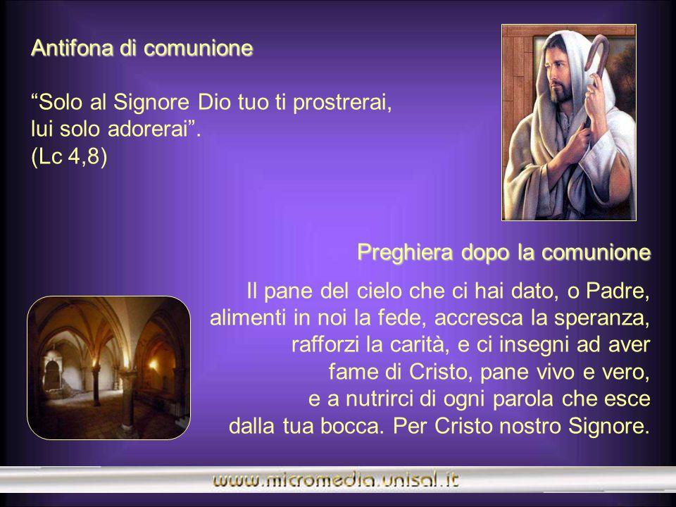Prefazio Prefazio Gesù vittorioso sulla tentazione del maligno È veramente cosa buona e giusta, nostro dovere e fonte di salvezza, rendere grazie semp