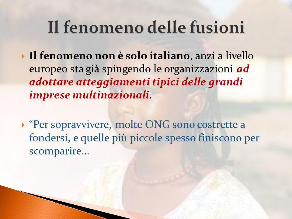  Il fenomeno non è solo italiano, anzi a livello europeo sta già spingendo le organizzazioni ad adottare atteggiamenti tipici delle grandi imprese multinazionali.
