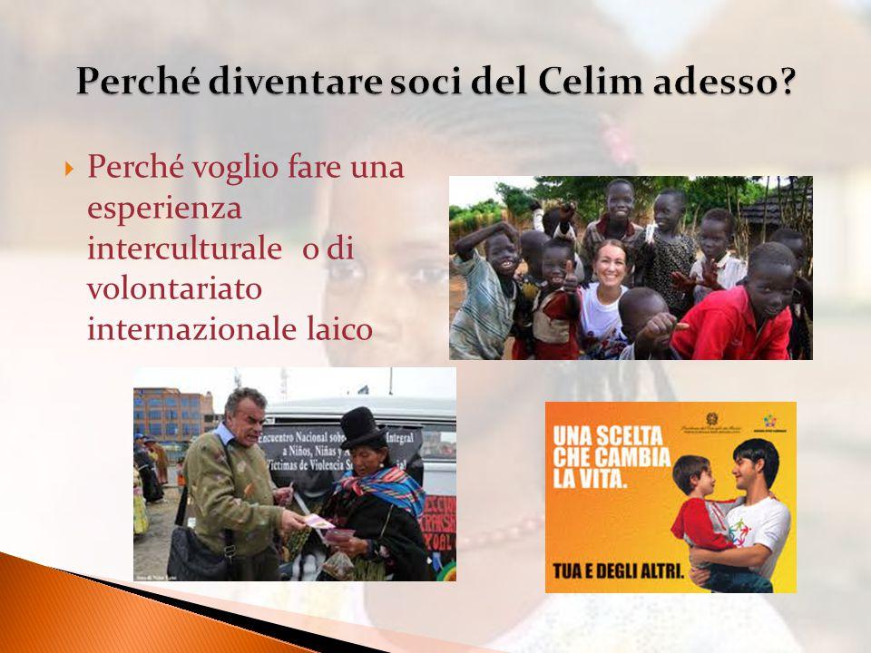  Perché voglio fare una esperienza interculturale o di volontariato internazionale laico