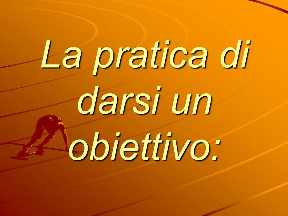 La pratica di darsi un obiettivo: