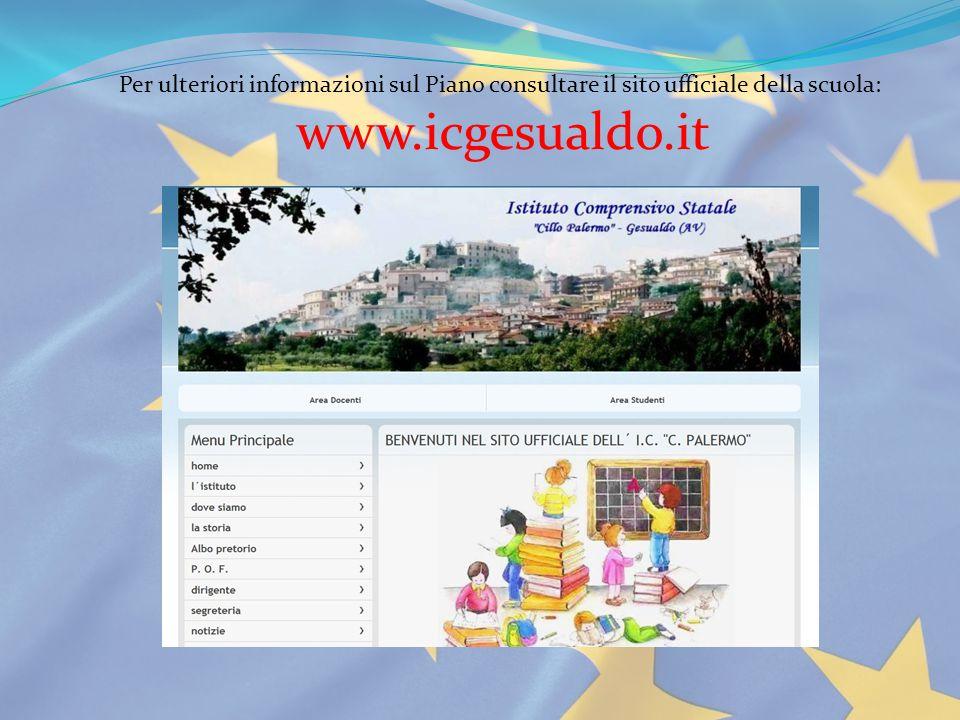 Per ulteriori informazioni sul Piano consultare il sito ufficiale della scuola: www.icgesualdo.it