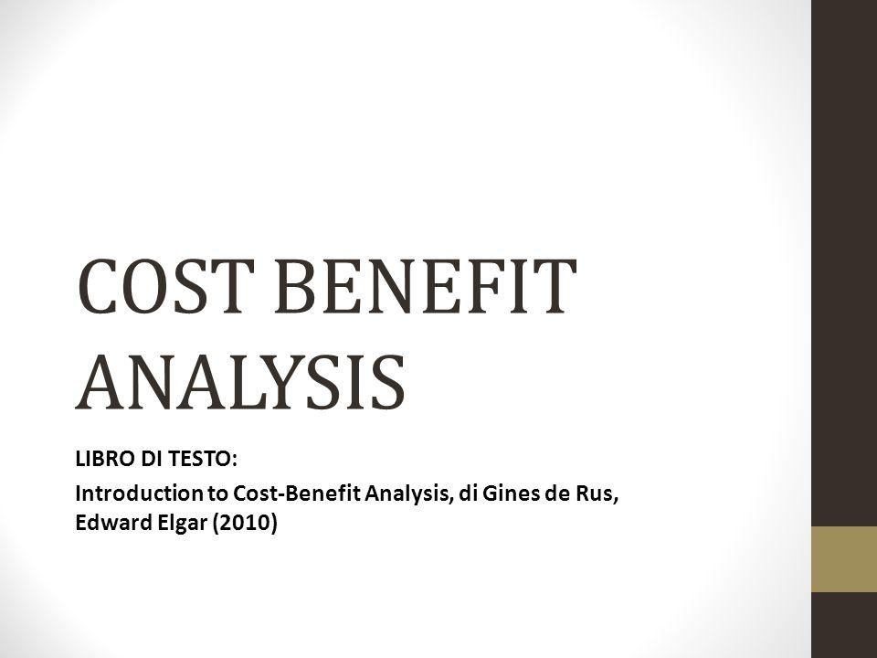 Fasi della Analisi Costi-Benefici Fase 1.