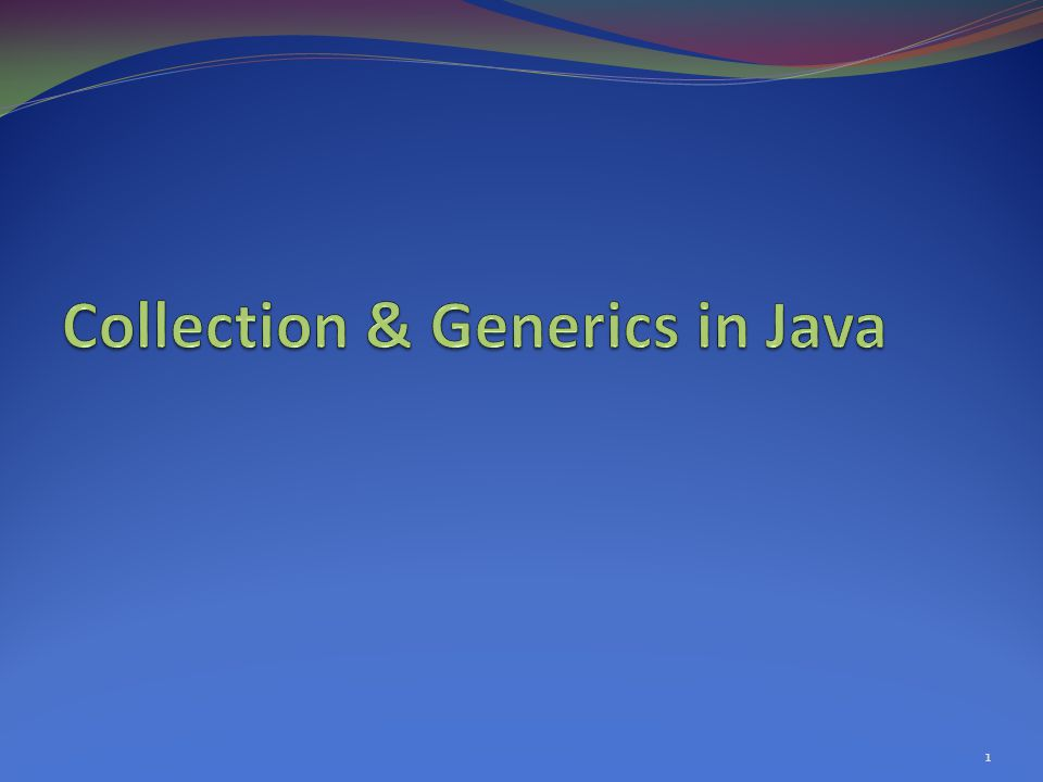 JCF: Collections in Java 2
