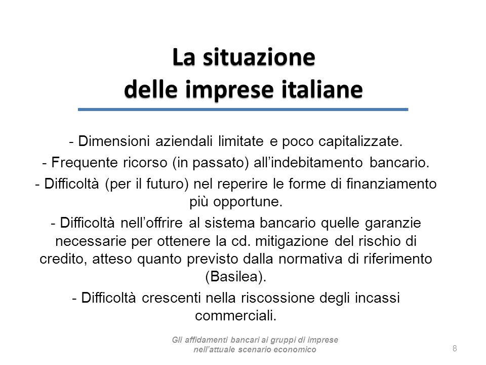- Dimensioni aziendali limitate e poco capitalizzate. - Frequente ricorso (in passato) all'indebitamento bancario. - Difficoltà (per il futuro) nel re