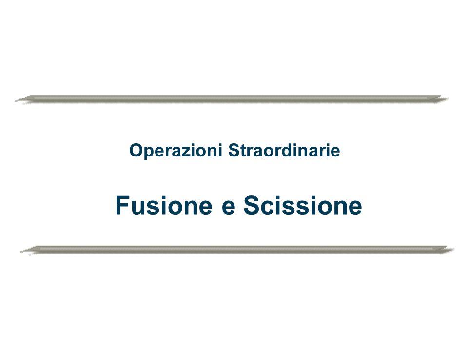 Operazioni Straordinarie Fusione e Scissione