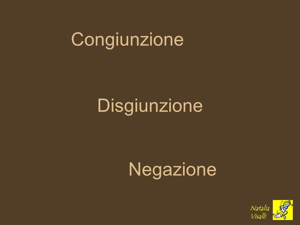 Disgiunzione Congiunzione Negazione Natalia Visalli