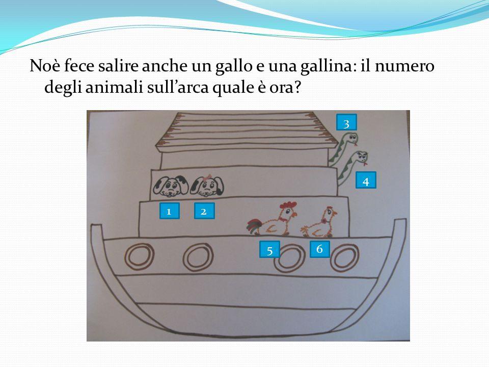 Noè fece salire anche un gallo e una gallina: il numero degli animali sull'arca quale è ora? 21 3 4 56