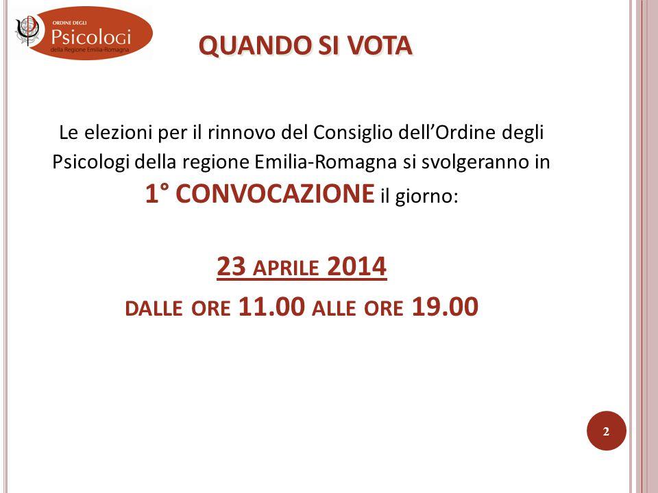 CHI PUÒ ESSERE ELETTO Tutti gli iscritti che avranno fatto pervenire presso la sede dell'Ordine la propria candidatura entro e non oltre le ore 13.00 del 3 aprile 2014.