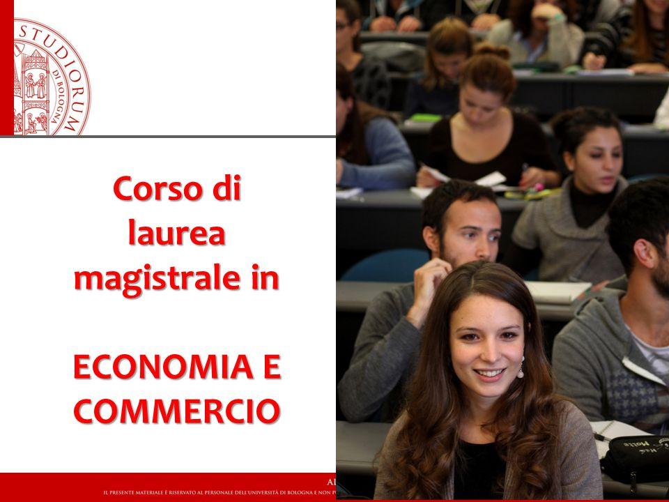 Corso di laurea magistrale in ECONOMIA E COMMERCIO