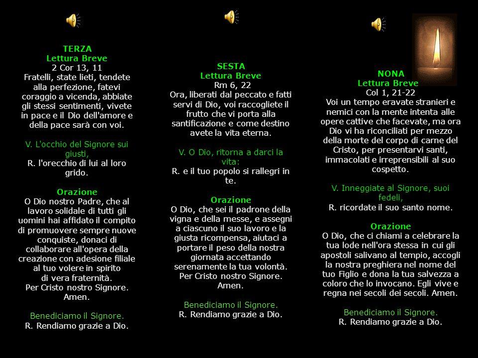 3^ Antifona Anche nella vecchiaia, non abbandonarmi,o Dio! SALMO 70, 14-24 (II) Tu, Signore, la mia speranza fin dalla mia giovinezza Lieti nella sper