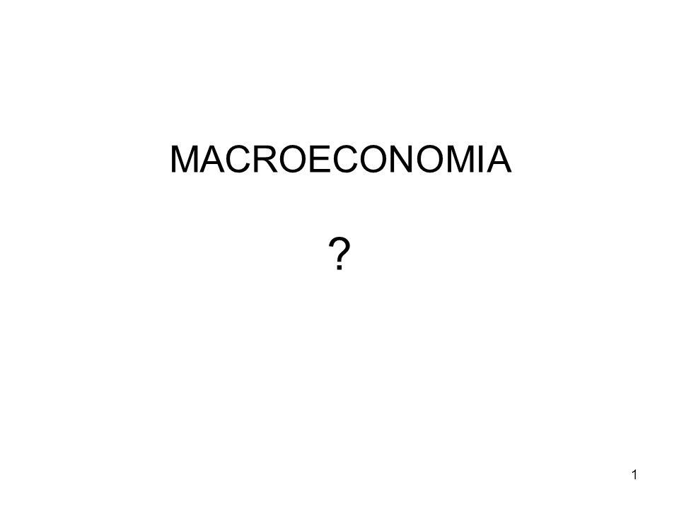 12 La crisi della macro keynesiana (TG) Shock petroliferi degli anni '70 Eccesso di interventismo.