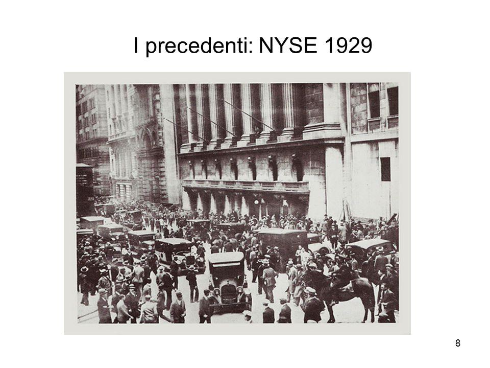 8 I precedenti: NYSE 1929