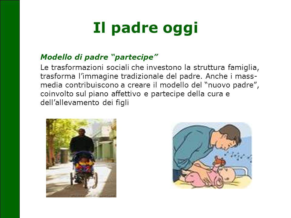 """Il padre oggi Modello di padre """"partecipe"""" Le trasformazioni sociali che investono la struttura famiglia, trasforma l'immagine tradizionale del padre."""