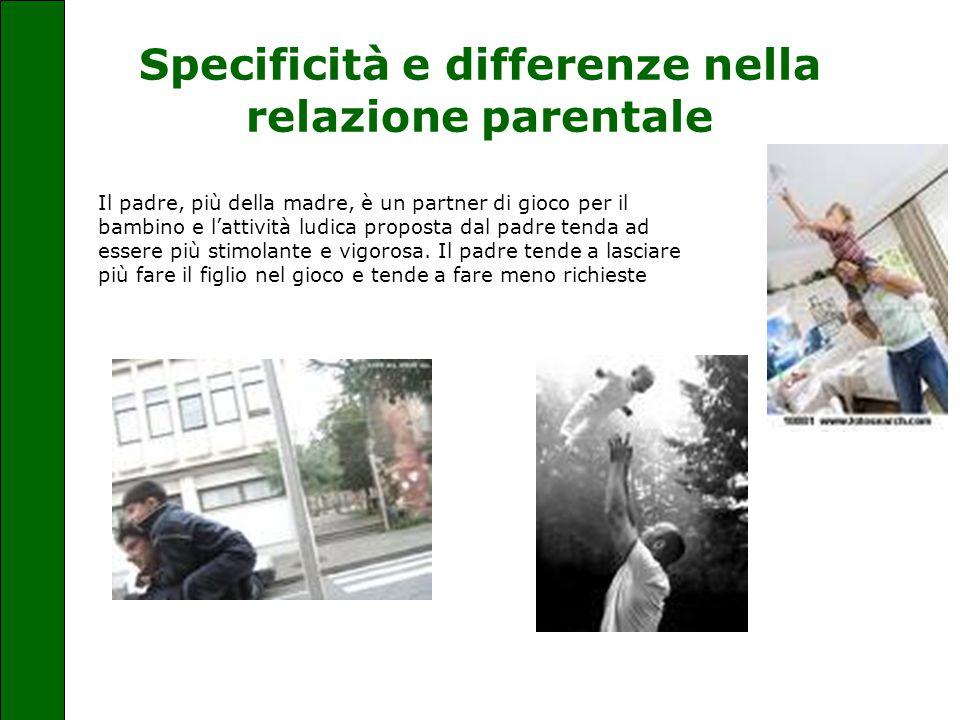 Specificità e differenze nella relazione parentale Il padre, più della madre, è un partner di gioco per il bambino e l'attività ludica proposta dal pa