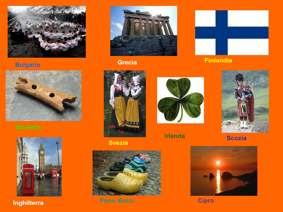 Bulgaria Grecia Finlandia Slovenia Svezia Irlanda Scozia Inghilterra Paesi BassiCipro