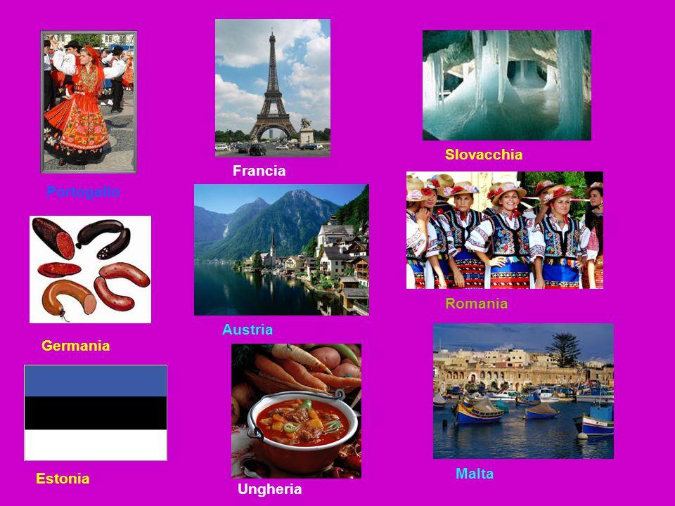 Portogallo Germania Estonia Francia Austria Ungheria Slovacchia Romania Malta
