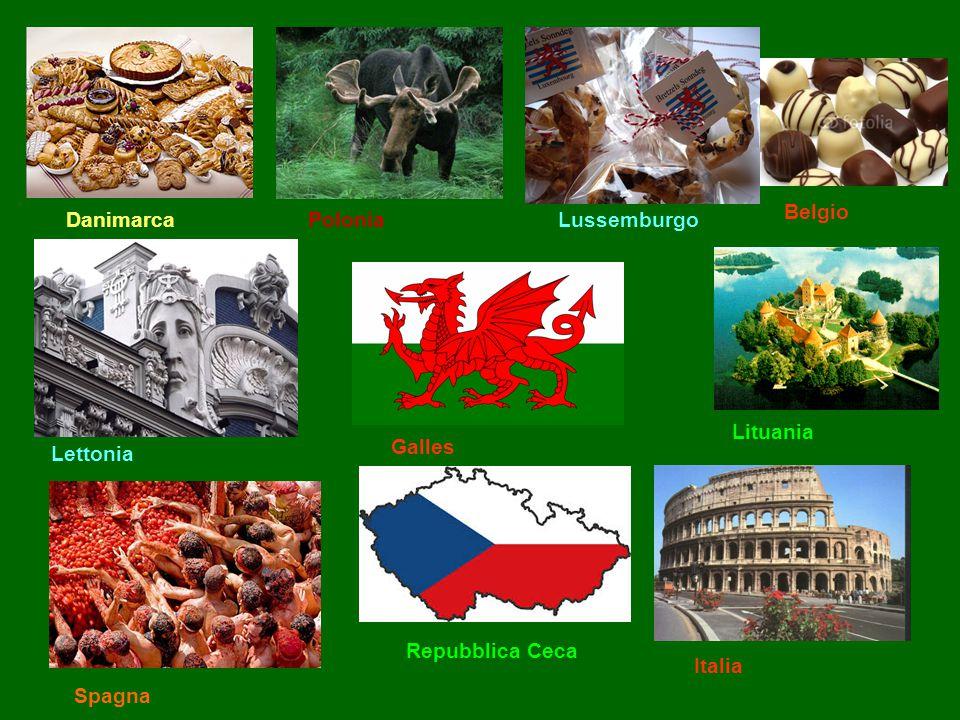 DanimarcaPoloniaLussemburgo Belgio Lettonia Galles Lituania Italia Repubblica Ceca Spagna